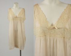 1920s lingerie/ 20s stepin chemise/ silk by shopKLAD on Etsy, $94.00