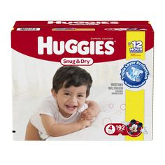 AmazonSmile: Huggies Snug & Dry Diapers, Size 4, 192 Count (One Month Supply): Health & Personal Care