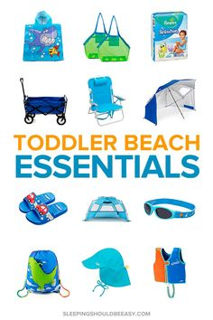 Toddler Beach Essentials for Stress-Free Family Fun Toddler Beach, Toddler Fun, Toddler Activities, Beach Babies, Toddler Travel, Beach Trip Packing, Flying With A Toddler, Beach Hacks, Beach Items
