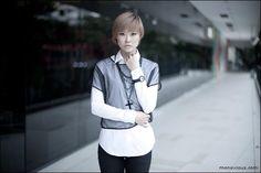 Прозрачная футболка на белой рубашке / Фактуры / Своими руками - выкройки, переделка одежды, декор интерьера своими руками - от ВТОРАЯ УЛИЦА