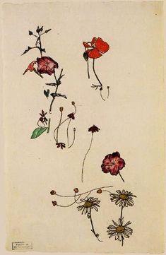 Blumenstudie by Egon Schile