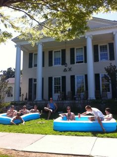 This had me thinking...blow up pool for the Delta Zeta roof?? =)