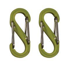 Nite Ize S-Biner Plastic Size #0 - Lime Green 2 Pack