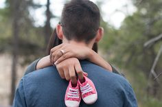 Baby shoes pregnancy announcement! Photo credits: Jessica M Wood Photography