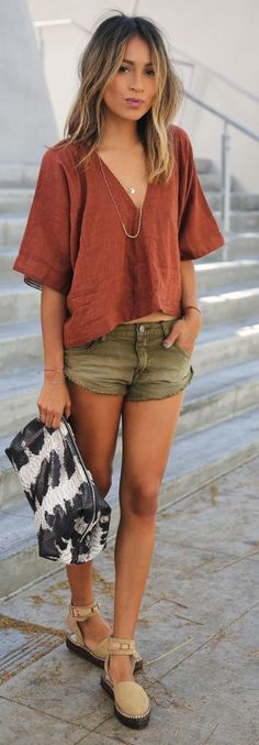 Khaki And Rust Outfit Idea by Sincerely Jules