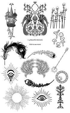 Fairy Tale Tattoo, Slavic Tattoo, Russian Tattoo, Card Tattoo, Tattoo Ink, Sleeve Tattoos, Best Tattoos For Women, Tattoo Graphic, Baba Yaga