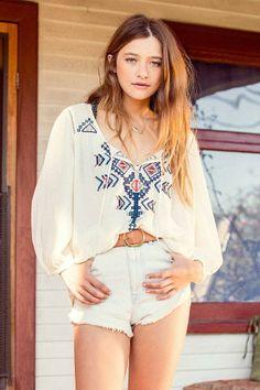 Ecote Arizona Embroidered Tunic #urbanoutfitters