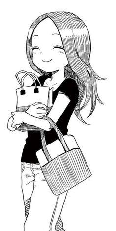 からかい上手の高木さん Manga Anime, Anime Couples Manga, Anime Chibi, Anime Art, Drawing Block, Manga Drawing, Character Art, Character Design, Simple Anime