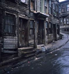 seattlemysterybookshop: I can practically feel a mystery story seeping from this photo. What do you suppose happened to cause the village to be abandoned and left to decay? -Seattle Mystery Bookshop