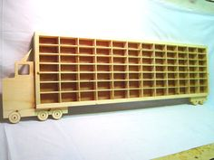 Hot Wheels Boys Wood Truck Display Case Toy Wall