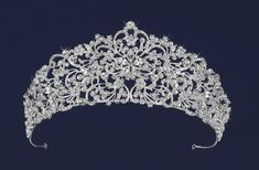 """Exquisite 2 1/2"""" Tall Silver or Gold Scroll Wedding and Quinceanera Tiara - Affordable Elegance Bridal -"""