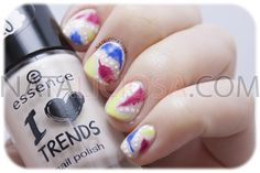 manicura facil de plumas / colorful feathers nail art