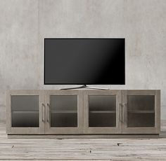 Grand Framed Glass 4-Door Media Console