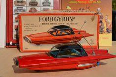 #Antique Tin Toy# Ichida Ford Gyron Concept Car Japan Yonezawa Asahi Bandai San