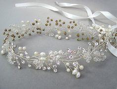 Grecian hair vine wedding headband bridal by Angelicbridal on Etsy