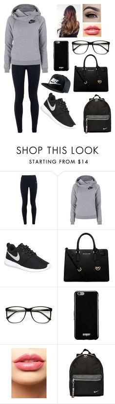 """When they think your having a lazy day but this is your style"" by blessed-with-beauty-and-rage ❤ liked on Polyvore featuring NIKE, MICHAEL Michael Kors, Givenchy, LASplash, women's clothing, women, female, woman, misses and juniors"