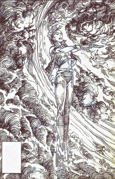 Cover art by Barry Windsor-Smith to X-Men #198.