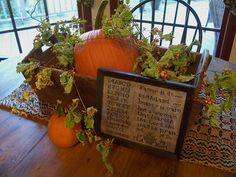 2015 Fall Picture's~~~Linda B. www.picturetrail.com/theprimitivestitcher Primitive Fall Decorating, Autumn Decorating, Thanksgiving Decorations, Halloween Decorations, Harvest Decorations, Fall Vignettes, Fall Harvest, Harvest Time, Happy Fall Y'all