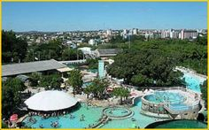 Caldas Novas - natural hot water springs resort city- everyone in Goias comes to vacation here.