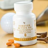 Forever Active HA® - This supplement helps lubricate the joints and moisturizes skin. Hyaluronic Acid (HA) is a special protein that is critical to these two functions. Apart from HA, this product also contains ginger and turmeric root for additional joint support. Ideal for sporty people.