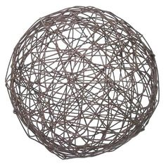 Threshold™ Wire Garden Orb $12.99  Brown - Rust-resistant. General Material: Steel. Dimensions: 9.000L x 9.000W x 9.000H