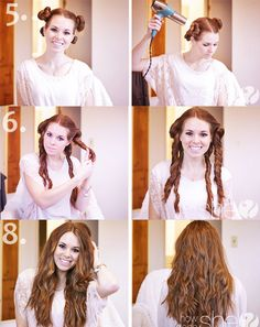 Beachy waves for hair - tried this and loved the result! I have a lot of hair and divided into 6 sections. Also skipped using pony tail holders.