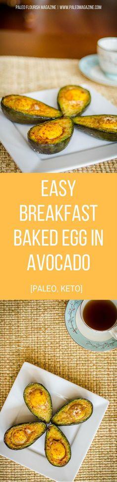 Easy Breakfast Baked Egg in Avocado Recipe [Paleo, Keto] #paleo #keto #recipes - http://paleomagazine.com/baked-egg-in-avocado-recipe