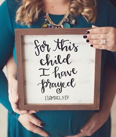 For this child I have prayed 1 Samuel 1:27 distressed wood sign