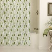 Excell Leaflets Shower Curtain (Sage (Green) Leaflets Shower Curtain) (PEVA, Floral)