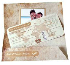Faire-part pochette de mariage Effet veilli à partir de 3.39 €