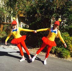 Tweedle Dee Tweedle Dum DIY Halloween costume