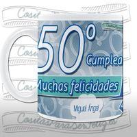 Taza 50º cumpleaños personalizable. - Rakuten.es  Taza 50º cumpleaños personalizable.: TAZACUMPLE0050 de Cositas para ser feliz | Compra en línea en Rakuten España