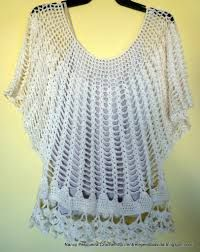 blusas a crochet manga murcielago con patrones ile ilgili görsel sonucu