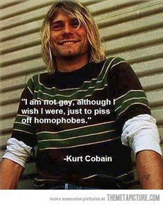 I love Kurt Cobain!I love Kurt Cobain! Kurt Cobain Quotes, Nirvana Kurt Cobain, Nirvana Quotes, Nirvana Art, Punk Quotes, Nirvana Lyrics, Humor Videos, Rock Amor, Personalidade Infp