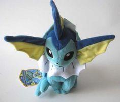 JAPAN-Pokemon-2012-VAPOREON-Takara-Tomy-9-5-24cm-Plush-Toy-Plushie