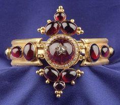 Antique 18kt Gold, Garnet, and Diamond Bracelet | Sale Number 2311, Lot Number 348 | Skinner Auctioneers