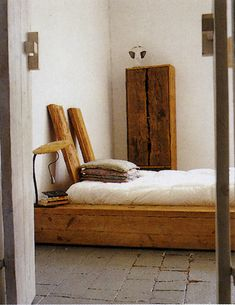 wood bedroom, bed, headboard, organic, natural, white, rustic, industrial chic; as seen in the bailey's books
