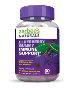 Zarbee's Elderberry Gummy Immune support is a concentrated formula featuring a burst of Elderberry, Vitamin C and Zinc to help support immune system health. This product is great for parents and teenage kids who need that extra support to get them through the day. - See more at: http://www.zarbees.com/immune-support/zarbee-s-elderberry-gummy-immune-support-60-ct.html#sthash.ewEflVfG.dpuf