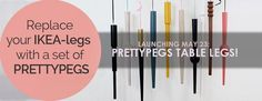Replace your furniture legs with a set of Prettypegs