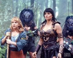 Xena Lucy Lawless Renee O'Connor Star Trek Tv Series, Super Heroine, Paddy Kelly, Lucy Lawless, Xena Warrior Princess, Hercules, Friends Forever, Film, Girl Power