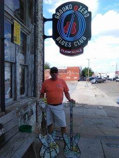 Blues guitars at Ground Zero Blues Club, Clarksdale, MS