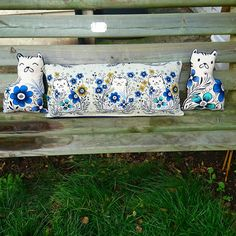 Have you seen how many cute cushions you can get out of half a meter of our pennie fabric!
