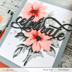 Altenew Cards, Foam Adhesive, Bunch Of Flowers, Gift Certificates, Have Some Fun, Embossing Folder, Flower Cards, Stencils, Invitations