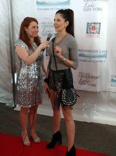 May 2018 on the red carpet at the Hoboken Film Festival. Lisa Brevogel reporting.