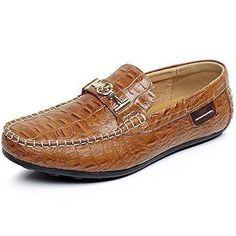 Oferta: 32.5€ Dto: -50%. Comprar Ofertas de Shenn Hombres Marrón Piel de Cocodrilo Zapatos de Negocio Ponerse Holgazanes de Conducción 1314 EU41 barato. ¡Mira las ofertas!