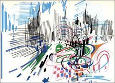 Sevilha - Nadir Afonso Nadir Afonso, Abstract Art Images, Architecture Concept Diagram, Concrete Art, Kinetic Art, Art Database, Artist Gallery, Op Art, Art Museum