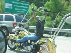 harley davidson with ape hangers LOOKS dangerous to me!!