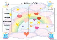 a fun reward chart suitable for home pre school or school