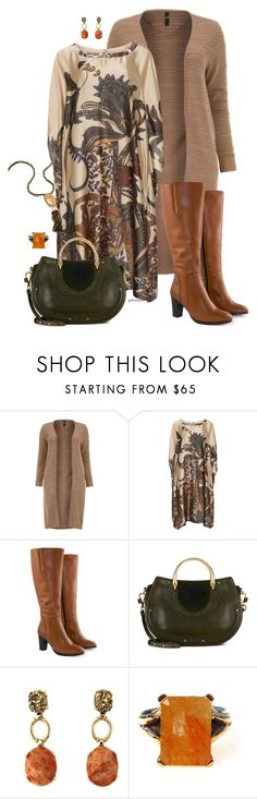 """""""Work chic- plus size"""" by gchamama on Polyvore featuring Mat, Jilsen Quality Boots, Chloé and Kendra Scott"""