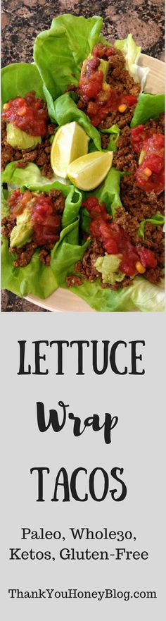 Easy Clean Eating Lettuce Wrap Taco Recipe.